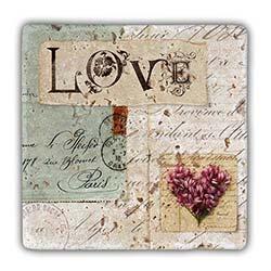 Oscar Stone Love Taş Duvar Dekoru 20 x 20 cm