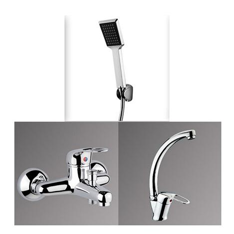 Alper Banyo Banyo ve Mutfak Bataryası Takımı ( Kare Duş Seti Hediyeli )
