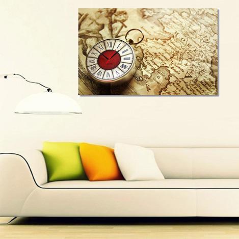 Tictac TS1 - 1 Kanvas Tablo Saat - 40x60 cm