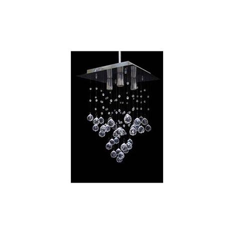 Safir Light Kare Kristal Avize