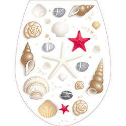 Alper Banyo Kırılmaz Deniz Yıldızı Desenli Klozet Kapağı