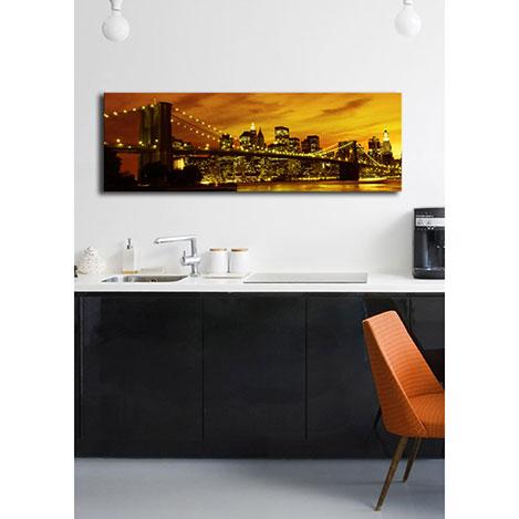 Özgül Arkadan Aydınlatmalı Canvas Tablo 3 - 30x90 cm