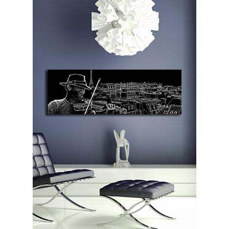 Özgül Arkadan Aydınlatmalı Canvas Tablo 14 - 30x90 cm