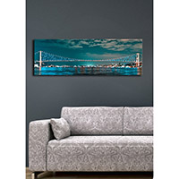 Özgül Grup Arkadan Aydınlatmalı Canvas Tablo 16 - 30x90 cm