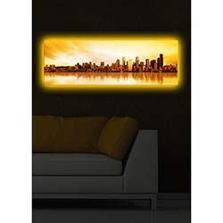 Özgül Arkadan Aydınlatmalı Canvas Tablo 17 - 30x90 cm