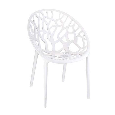 Resim  Siesta Crystal Sandalye - Beyaz
