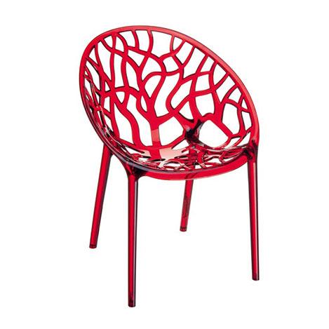Resim  Siesta Crystal Sandalye - Kırmızı