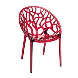 Siesta Crystal Sandalye - Kırmızı