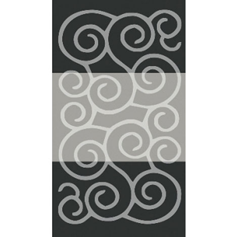 Confetti Şile Banyo Halısı Siyah - 60x100 cm