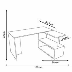 House Line Fonksiyonel Gelincik Çalışma Masası - Beyaz