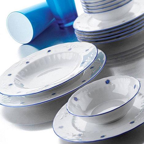 Resim  Kütahya Porselen Mina 24 Parça Yemek Takımı - Mavi