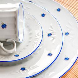 Kütahya Porselen Mina 24 Parça Yemek Takımı - Mavi