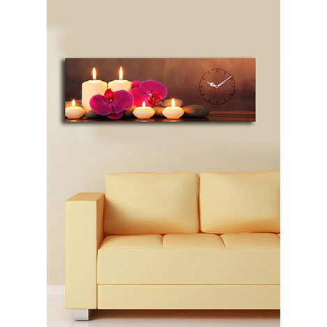 Resim  Quick (3090UCS-1) 3090 Canvas Tablo Saat - 30x90 cm