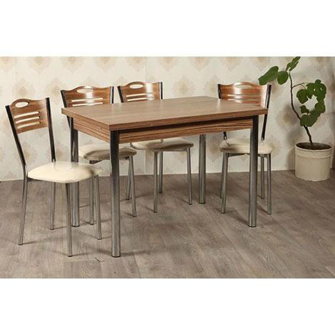 Resim  Kristal TK-24-SMB/4 Yemek Masası Takımı (4 Sandalyeli) - Samba