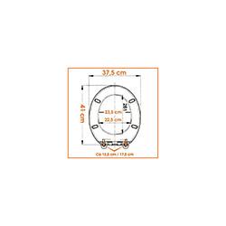 Alper Banyo Süngerli Klozet Kapağı - Mor / Leylak
