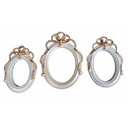 Gold Dekor 55304 3'lü Ayna Seti - Sarı