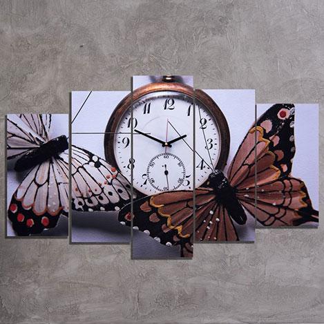 Canvastime TMG36 Canvas Tablo Saat - 5 Parçalı