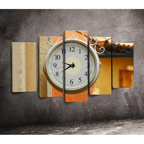 Canvastime TMG43 Canvas Tablo Saat - 5 Parçalı
