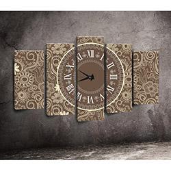 Canvastime TMG65 Canvas Tablo Saat - 5 Parçalı