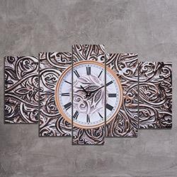 Canvastime TMG82 Canvas Tablo Saat - 5 Parçalı