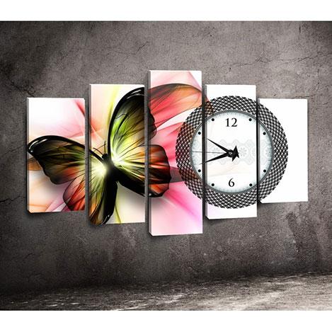 Canvastime TMG102 Canvas Tablo Saat - 5 Parçalı