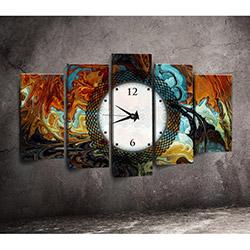 Canvastime TMG105 Canvas Tablo Saat - 5 Parçalı