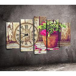 Canvastime TMG116 Canvas Tablo Saat - 5 Parçalı