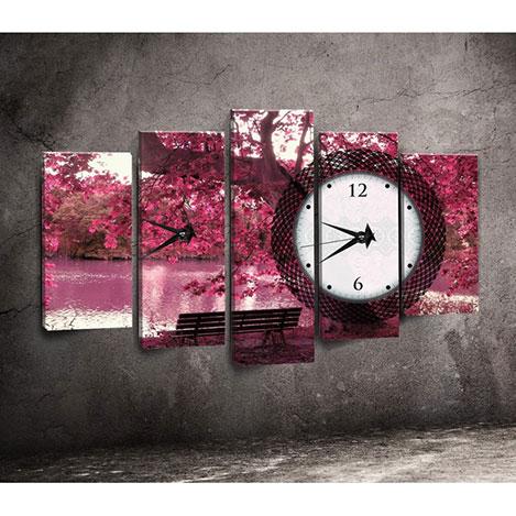 Canvastime TMG140 Canvas Tablo Saat - 5 Parçalı