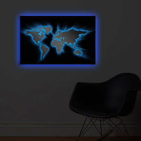 Özgül 4570DACT-35 Arkadan Aydınlatma Kanvas Tablo - 45X70 cm