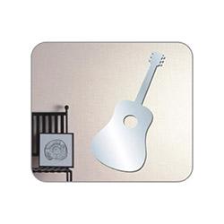 Bosphorus Gitar Aynalı Sticker - 15x34 cm