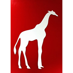 Bosphorus Giraffe Aynalı Sticker - 20x14,8 cm