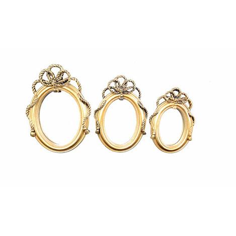 Resim  Gold Dekor 55311 Halat Eskitme Ayna - Altın