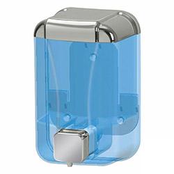 Alper Banyo Sıvı Sabun Dispenseri (Şeffaf / Krom) - 500 cc