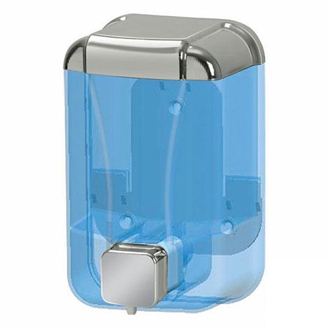 Resim  Alper Banyo Sıvı Sabun Dispenseri (Şeffaf / Krom) - 500 cc
