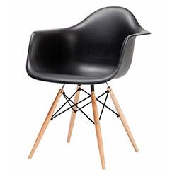 Eames Kolçaklı Sandalye - Siyah