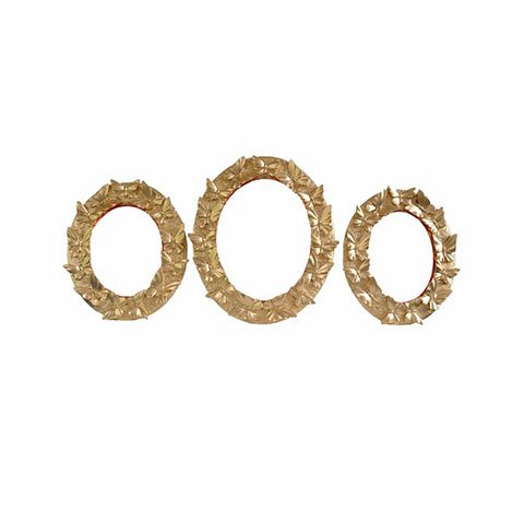 Gold Dekor 55319 3'lü Kelebek Ayna - Altın