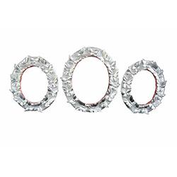 Gold Dekor 55320 3'lü Kelebek Ayna - Gümüş