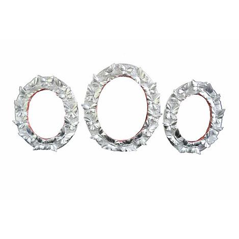 Resim  Gold Dekor 55320 3'lü Kelebek Ayna - Gümüş