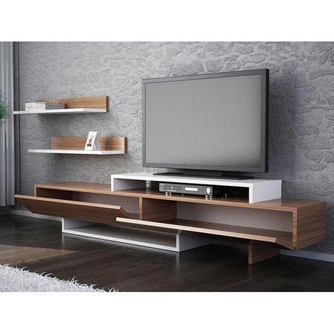 Resim  House Line Zenn Tv Ünitesi - Teak / Beyaz