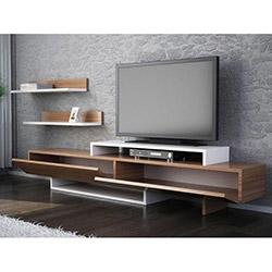 House Line Zenn Tv Ünitesi - Teak / Beyaz