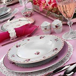 Kütahya Porselen 8556 83 Parça Desenli Yemek Takımı