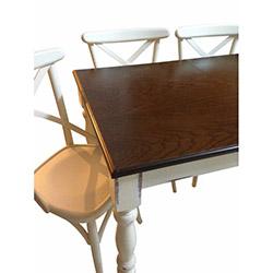 Albero Home Masa Takımı - Kahve / Beyaz