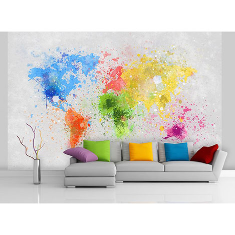 Resim  Artmodel Color Map Poster Duvar Kağıdı - 390x270 cm