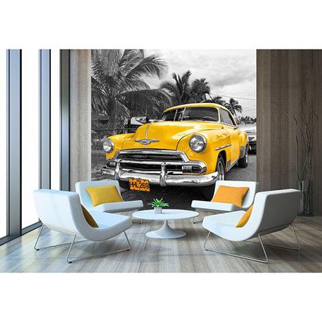 Artmodel Cuba Car Poster Duvar Kağıdı 270x270 cm