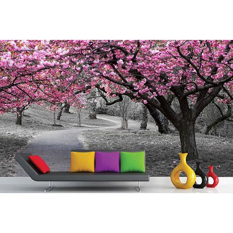 Resim  Artmodel Kiraz Ağaçları Poster Duvar Kağıdı - 390x270 cm