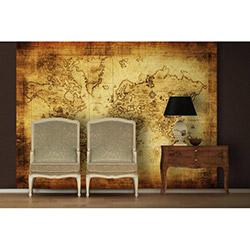 Artmodel Old Map Poster Duvar Kağıdı - 390x270 cm