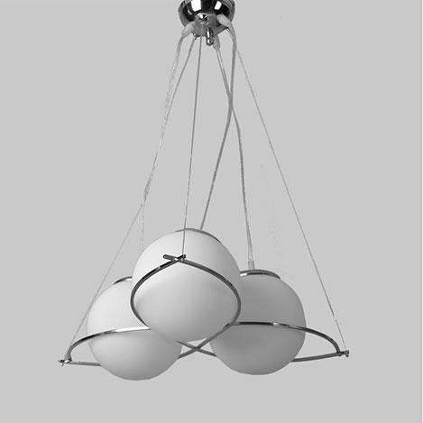 Safir Light Elegance 3'lü Opal Avize - Beyaz