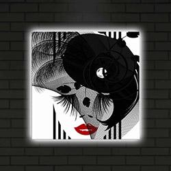 Özgül 4040DACT-25 Led Işıklı Kanvas Tablo - 40x40 cm