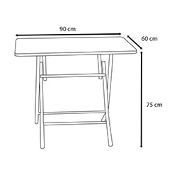 House Line (R040) Katlanır Masa - Beyaz