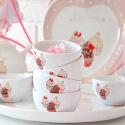 Keramika Pink Cake A 8 Parça Hitit Kahvaltı Seti